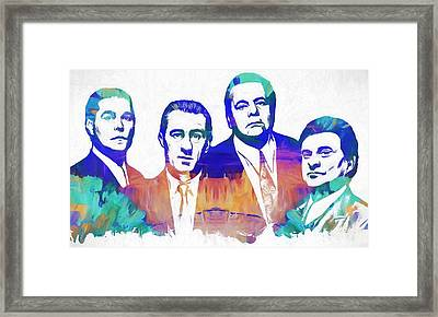 Goodfellas Watercolor Framed Print by Dan Sproul
