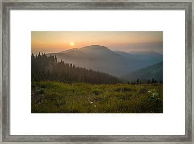 Goodnight Mountains Framed Print by Kristopher Schoenleber
