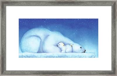 Arctic Bears, Goodnight Nanook Framed Print by Tracy Herrmann