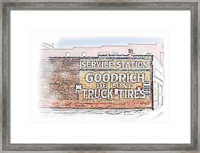 Goodrich Tires Framed Print by Greg Joens