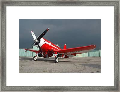 Goodyear F2g-1 Corsair N5588n Framed Print by Brian Lockett