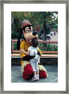 Goofy Love Framed Print by Carl Purcell