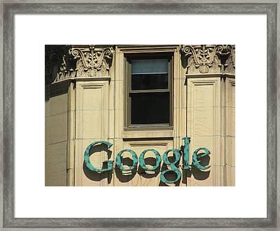 Google Framed Print by Alfred Ng
