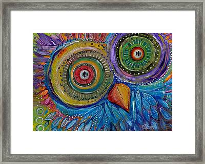 Googly-eyed Owl Framed Print by Tanielle Childers