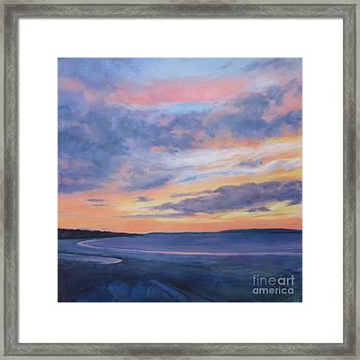 Goose Rocks Beach Morning Framed Print by Lynne Schulte