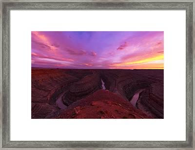 Goosenecks  Framed Print by Dustin  LeFevre