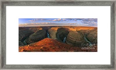 Goosenecks State Park Framed Print by Henk Meijer Photography