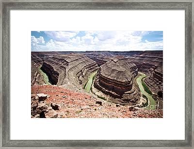 Goosenecks State Park In Utah Framed Print by Ryan Kelly