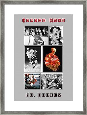 Gordie Howe Framed Print by Big 88 Artworks