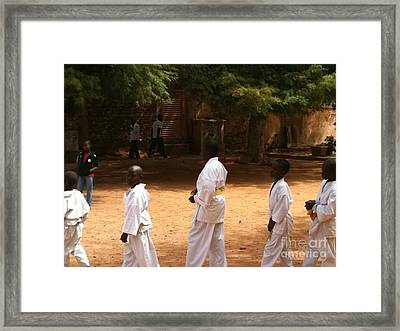 Goree Karate  Framed Print by Fania Simon
