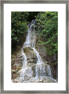 Gorge Creek Falls - North Cascades National Park Wa Framed Print by Christine Till