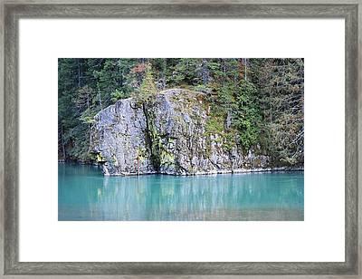 Gorge Rock Framed Print by Charlaina Swinney