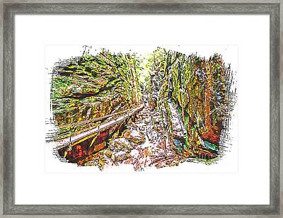 Gorge Framed Print by Sherman Perry