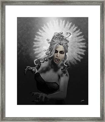 Gorgon Framed Print by Joaquin Abella