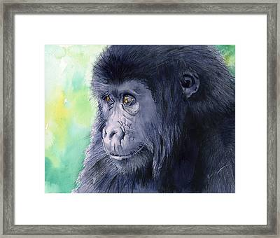 Gorilla Framed Print by Galen Hazelhofer