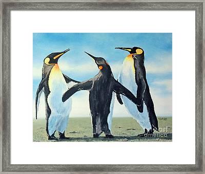 Gossip Framed Print by Joseph Palotas