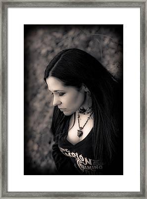 Goth At Heart - 1of 4 Framed Print by Scott  Wyatt