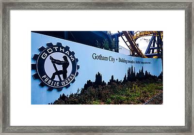 Gotham City Framed Print by Britten Adams