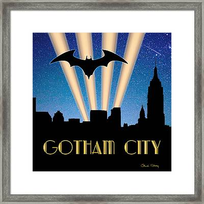 Gotham City Framed Print by Chuck Staley