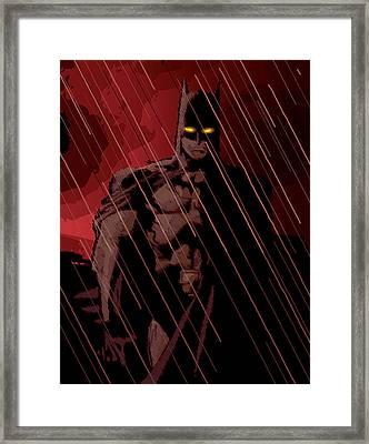 Gotham Knight Framed Print by Michael Lee