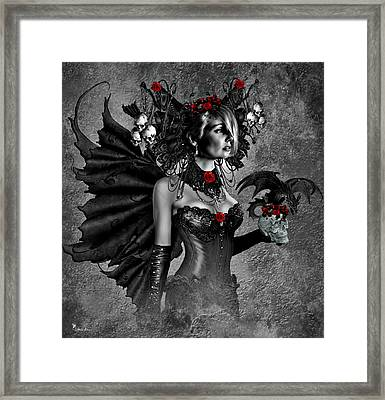 Gothic Beauty Framed Print by A Oppy