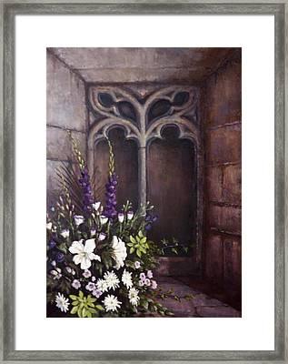 Gothic Wedding Bouquet Framed Print by Sean Conlon