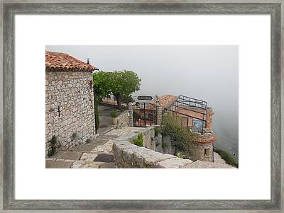 Gourdon In The Clouds Framed Print by Marilyn Dunlap