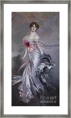 governess to the Elysian Fields Framed Print by Giovanni Boldini