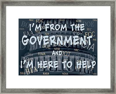 Government Help Framed Print by Daniel Hagerman