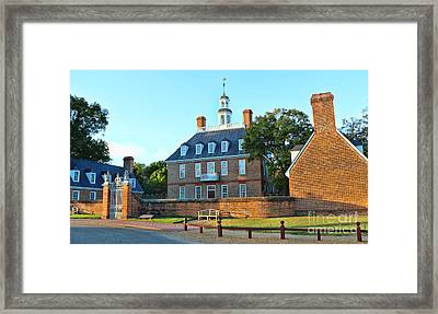 Governors Palace Colonial Williamsburg  4808 Framed Print by Jack Schultz