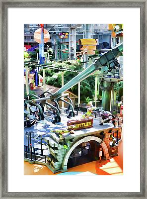 Grab Shell And Head To Mall Of America Framed Print by Lanjee Chee