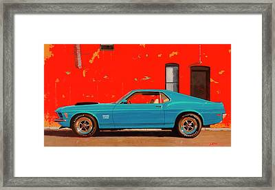 Grabber Blue Boss Framed Print by Greg Clibon