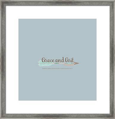 Grace And Grit Logo Framed Print by Elizabeth Taylor