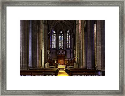 Grace Cathedral Framed Print by Bill Gallagher