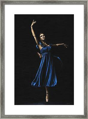 Graceful Dancer In Blue Framed Print by Richard Young