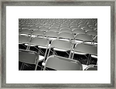 Graduation Day- Black And White Photography By Linda Woods Framed Print by Linda Woods