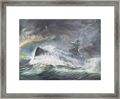 Graf Spee Enters The Indian Ocean Framed Print by Vincent Alexander Booth