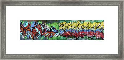 Graffiti Crazy Framed Print by Chuck Kuhn