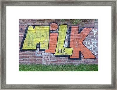 Graffiti Framed Print by Mark Severn