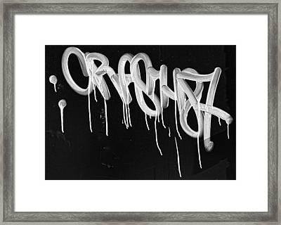 Graffiti Framed Print by Robert Ullmann