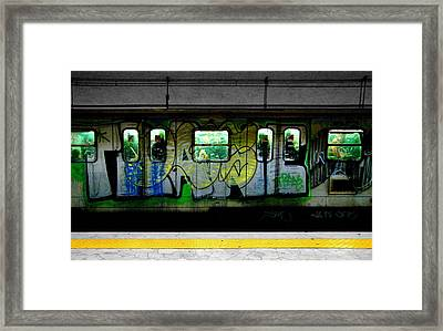 Selective Coloring Framed Print featuring the photograph Graffiti Train by Roberto Alamino