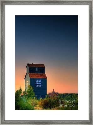 Grain Elevator Framed Print by Ian MacDonald