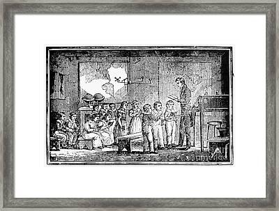 Grammar School, 1790s Framed Print by Granger
