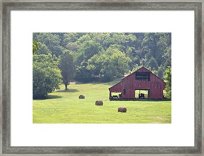 Grampa's Summer Barn Framed Print by Jan Amiss Photography