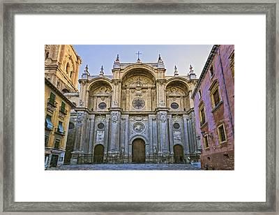 Granada Cathedral Framed Print by Joan Carroll