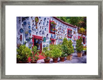 Granada House Painterly Framed Print by Joan Carroll