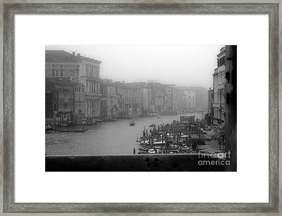 Grand Canal On A Foggy Morning Framed Print by Prints of Italy