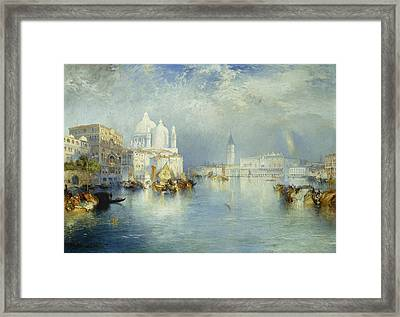 Grand Canal Venice Framed Print by Thomas Moran