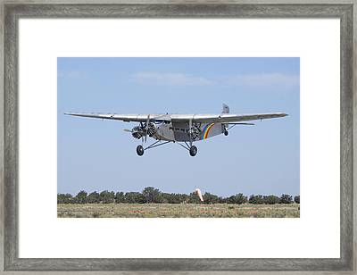 Grand Canyon Airlines Ford 5-at-c Trimotor N414h Valle Az Framed Print by Brian Lockett