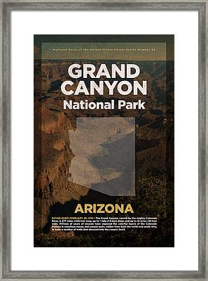 Grand Canyon National Park In Arizona Travel Poster Series Of National Parks Number 23 Framed Print by Design Turnpike